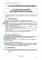 Cahier des charges – Loisirs