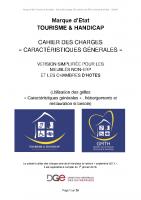 Cahier des charges – meublés non ERP