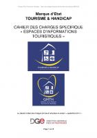 Cahier des charges – espaces information touristique