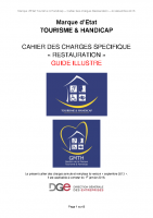 Cahier des charges – Restauration