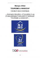 Cahier des charges – Piscines privées attachées à établissement NON-ERP